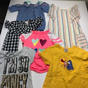 Girls size 6/6x Bundle Lot tops and dress EUC